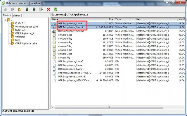 VMware vSphere Client, Datastore Browser