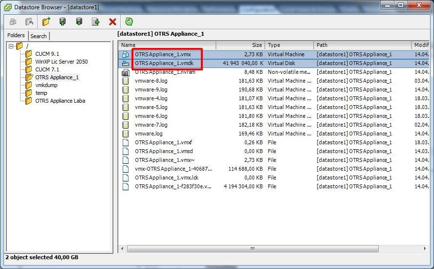 VMware vSphere Client, Datasore Browser