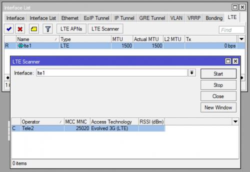 Модем Mikrotik R11e-LTE. LTE сканер