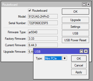 Модем Mikrotik R11e-LTE. Питание