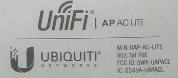 Этикетка UniFi AC Lite